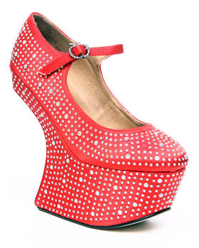 Apple Bottoms - Ginger Platform Angled Diamond Studded Heel