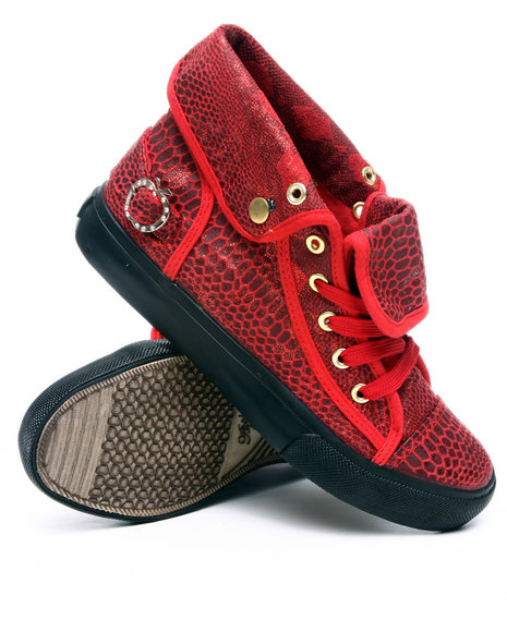 Apple Bottoms Women Red Elektra Python Sneaker