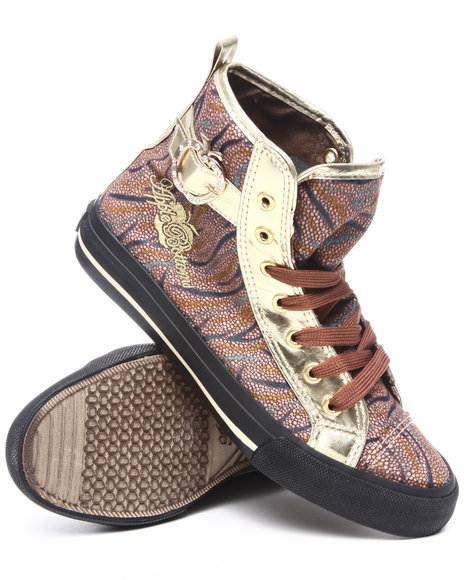 Apple Bottoms Women Brown Kila Wild Snake Pattern Sneaker