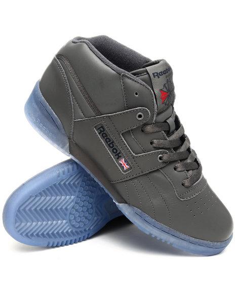 Reebok Men Grey Workout Mid Ice Sneakers