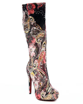 Fashion Lab - Saturn faux suede all over printed boot
