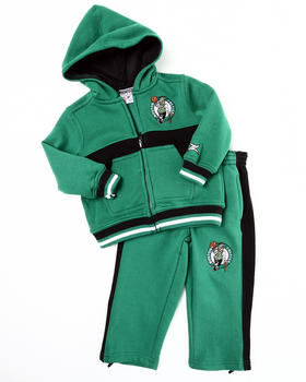 NBA MLB NFL Gear - CELTICS HOODED FLEECE SET (2T-4T)