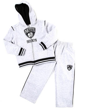 NBA MLB NFL Gear - NETS HOODED FLEECE SET (4-7)