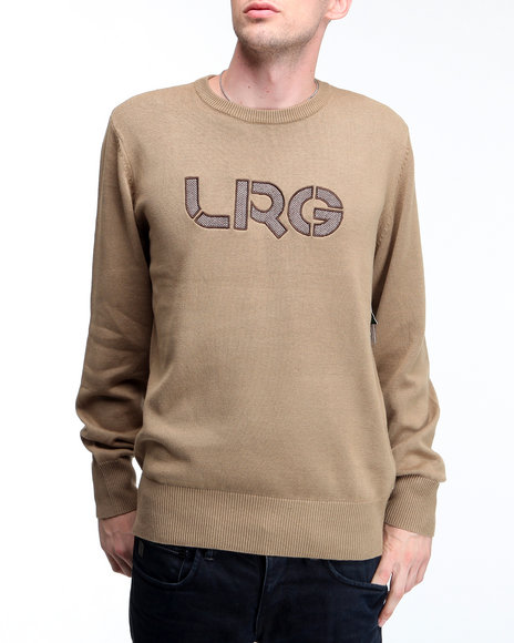 LRG Men Khaki Survivalist Cotton Sweater