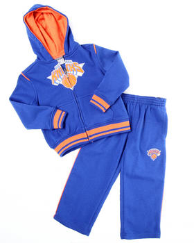 NBA MLB NFL Gear - KNICKS HOODED FLEECE SET (4-7)
