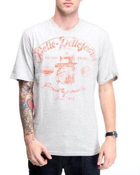 Pelle Pelle Men Grey S/S Pelle Jeans Tee