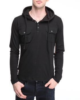 Company 81 - Placket pocket detailed pullover hoodie