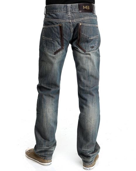 Pelle Pelle Men Vintage Wash,Medium Wash The Marc Buchanan Denim Jeans
