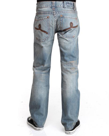 Pelle Pelle Men Light Blue Pu Loop Denim Jeans