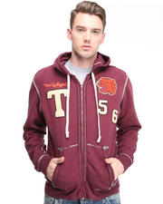 True Religion - Rockwoods Tigers Flatlock Raw Edge Hoodie