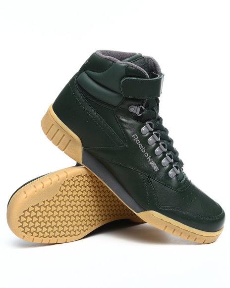 Reebok Men Olive Ex O Fit Plus Hi Sneakers