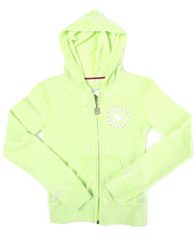 Southpole - Soft knit pull-zip hoodie w/print (big girls)