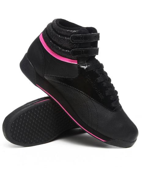 Reebok Women Black Freestyle Hi R12 Sneakers