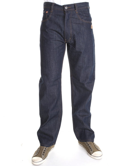 Akademiks - Men Indigo The 365 Raw Denim Jeans