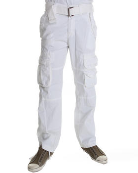 Basic Essentials - Belted Cargo Pants