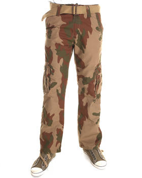 Basic Essentials - Belted Camo Cargo Pants