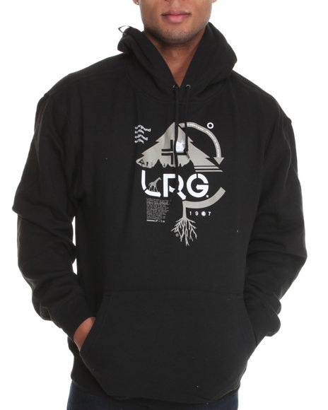 Lrg Men Black Ground Up Pullover Hoodie