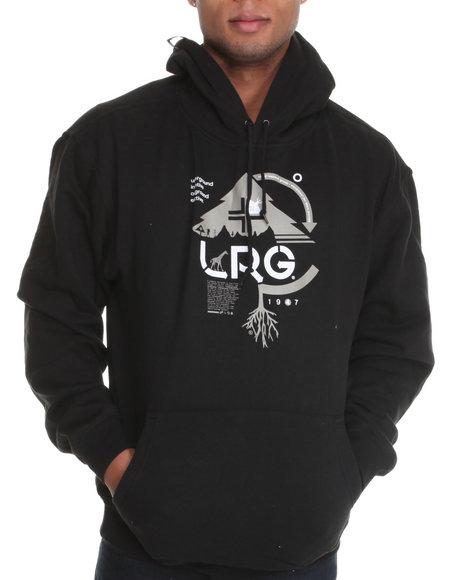 LRG Men Black Ground Up Pullover Hoodie