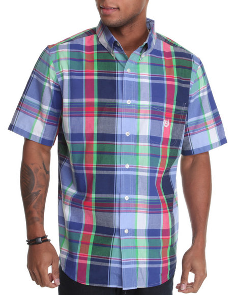 dockside s/s plaid shirt