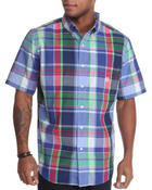 Chaps - Dockside S/S Plaid Shirt