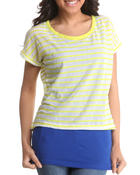Tops - 2-Fer top w/stripes