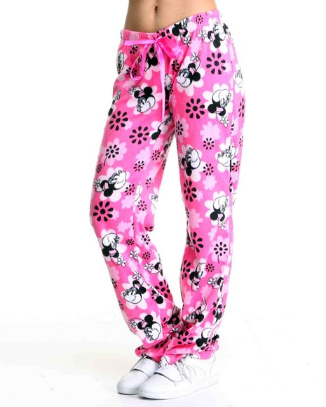 Graphix Gallery Women Pink Minnie Fleece Lounge Pants