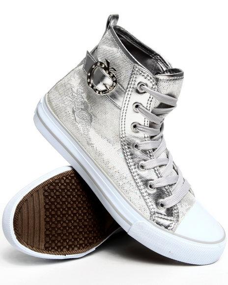 Apple Bottoms Women Silver Kita Glitter Sneaker