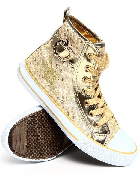Apple Bottoms Women Gold Kita Glitter Sneaker