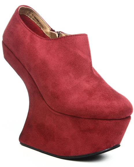 Fashion Lab - Women Maroon Selena Wedge W/Spikes