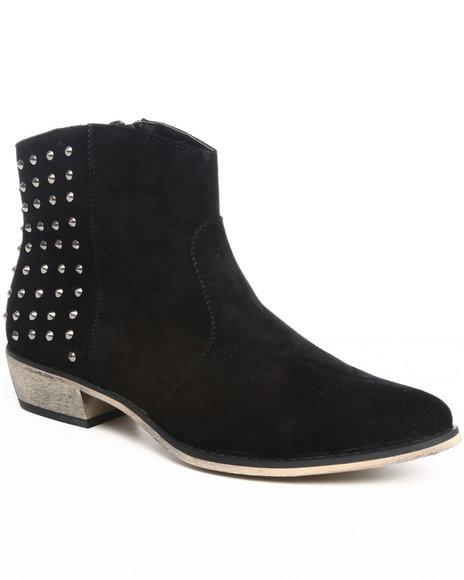 Fashion Lab Black Bootie W/Studs