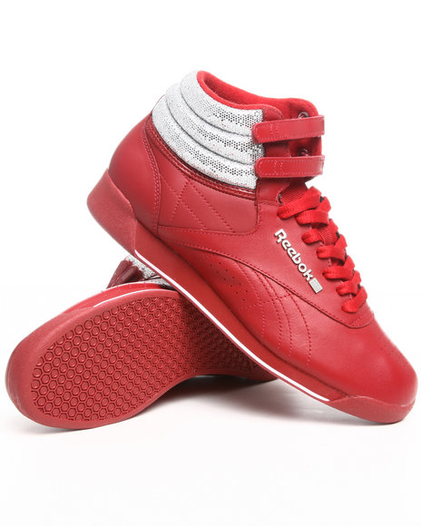 Reebok Red Freestyle Hi Sneakers