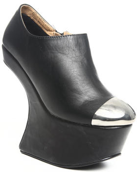 Fashion Lab - Storm Vegan Leather Wedge w/cap toe detail