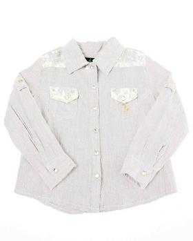 Baby Phat - BUTTON DOWN SHIRT WITH LACE (2t-4t)