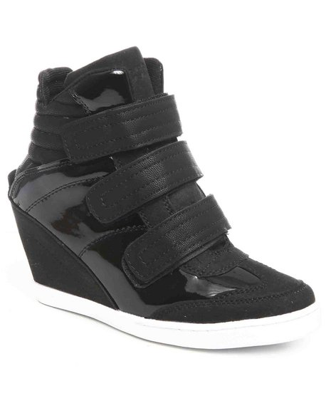 Fashion Lab - Women Black Koli Sneaker Wedge