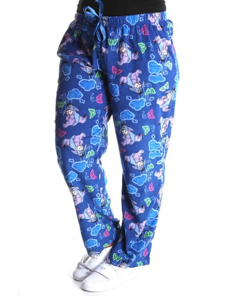eeyore fleece lounge pants (plus)
