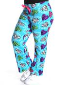 Plus Size - Pink Panther Plush Long Pants (pants)