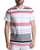 Men - Thin Stripe V-Neck Tee