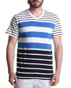 Men - Stripe V-Neck Tee