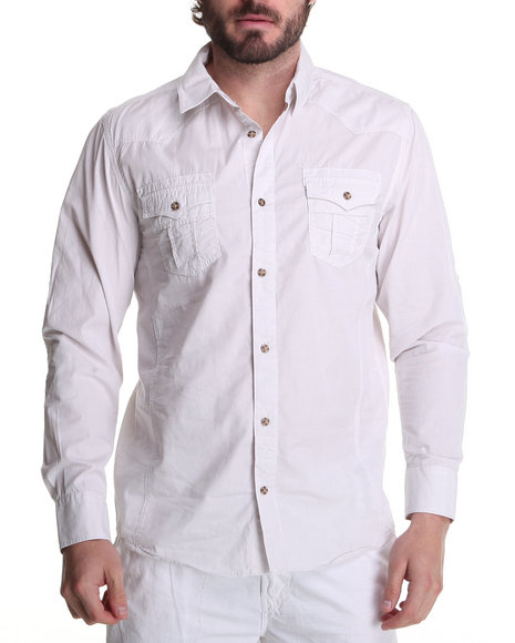 Buyers Picks Men White Sheek Solid Woven Shirt