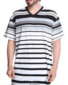 Men - Engineered Stripe V-Neck Tee (B&T)