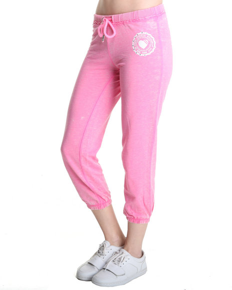 Southpole Dark Pink Lightweight Burn Out Sweatpant