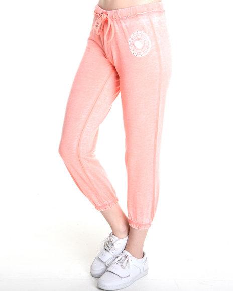 Southpole Orange,Pink Lightweight Burnout Sweatpant