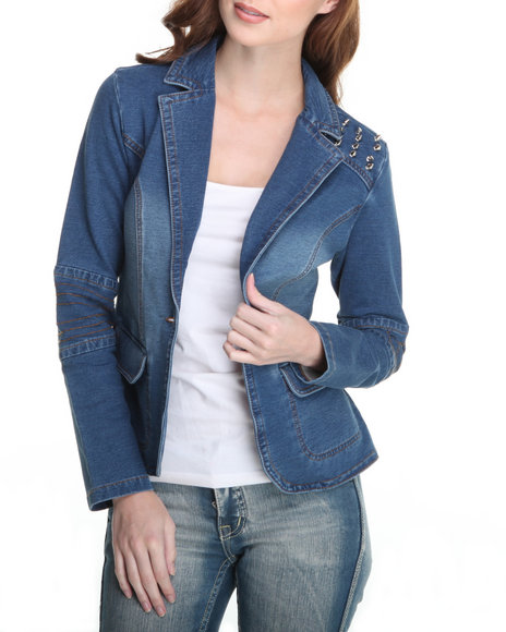 Trinket Blue Veronica Blazer