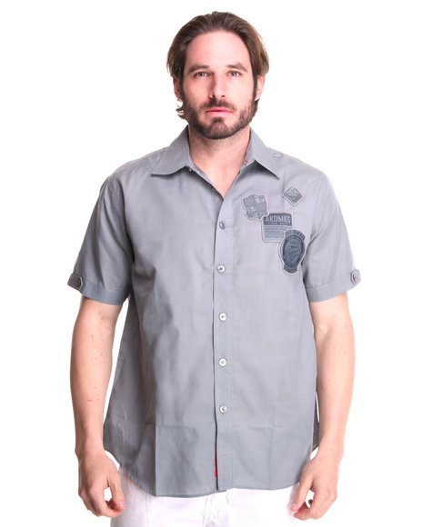 - Eric Short Sleeve Shirt w/ Patches