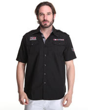 Button-down - Fury Short-Sleeve Military Shirt