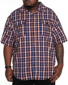 Men - Fortress Plaid S/S Button-Down (B&T)