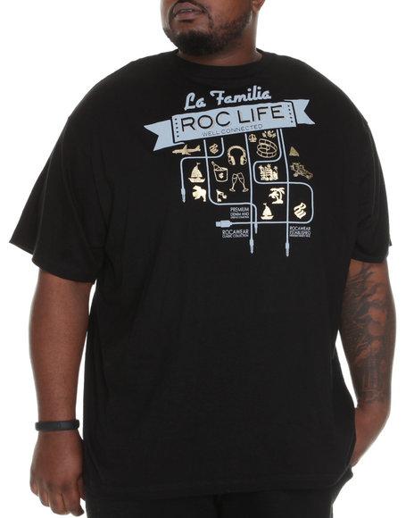Rocawear Men Black Roc La Familia S/S Tee (B&T)