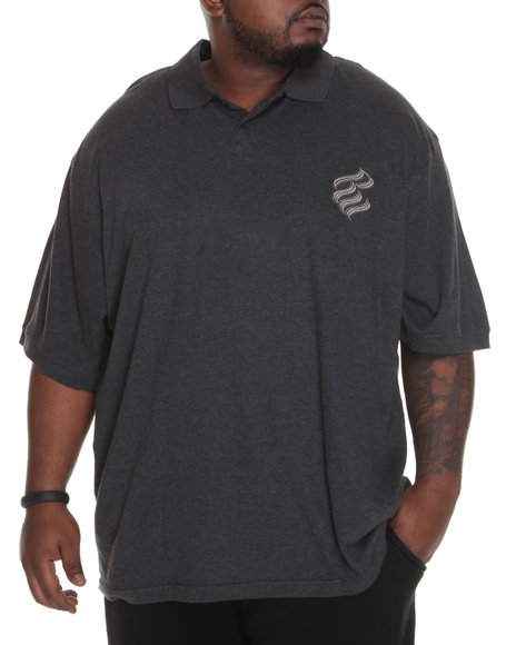Rocawear Men Shadow Rider Polo (B & T) Charcoal 3X-Large
