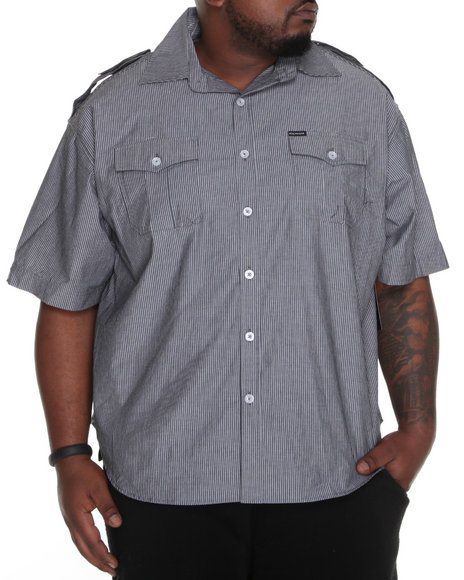 Rocawear Men Black Riley S/S Button-Down