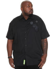 Button-down - Eric Short Sleeve Shirt w/ Patches (B&T)